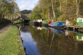 Autumn on the canal — Stok fotoğraf