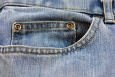 Blue Denim jeans pocket — Stock Photo