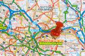 Street Map of Birmingham — Stock Photo