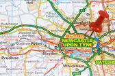 Street Map of Newcastle — Stock Photo