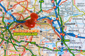Street Map of Birmingham — Stock Photo
