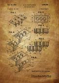 Lego Toy Building Brick Patent — Stock Photo
