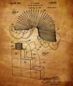 Slinky Patent — Stock Photo