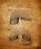 Vintage Slinky Patent — Stock Photo