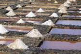 Evaporation ponds for sea salt production — Stock Photo