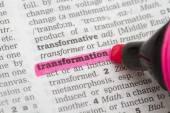 Transformación de definición Diccionario — Foto de Stock