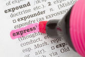 Dictionary definition express — Stock Photo