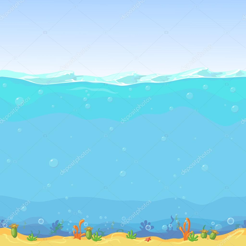 Submarino paisaje fondo de dibujos animados para dise o for Fondos animados de agua