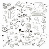 Business Idea doodles icons set. Vector illustration. — Stock Vector