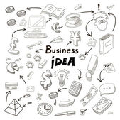 Business Idea doodles icons set. — Stockvektor