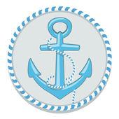 Anchor symbol - vector illustration — Stock Vector