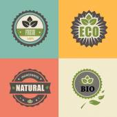 BIO stamp ECO, ORGANIC Labels Collection. — Stock Vector
