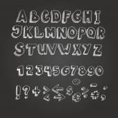 Chalk on blackboard style alphabet — Stock Photo