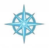 Wind rose - compass star — Foto Stock