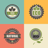 BIO stamp ECO, ORGANIC Labels Collection. — Stock Photo
