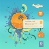 Flat design style modern vector illustration concept of planning a summer vacation, — Stock Vector