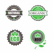 Eco Natural Organic And Bio Labels Collection — Stock Photo