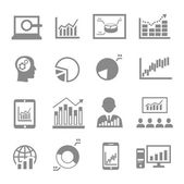 Market analysis, diagrams icons — Wektor stockowy