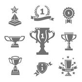Trophy and awards icons — Stock Vector