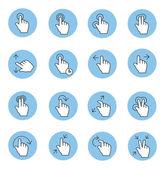 Toccare le icone dei gesti — Vettoriale Stock