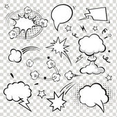 Comic Speech Bubbles. vector illustration. — Stockvektor