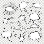 Comic Speech Bubbles. vector illustration. — Stok Vektör