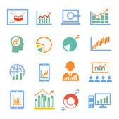 Market analysis, diagrams icons — Stock Vector