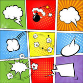 Comic speech bubbles and comic strip background  illustration — Stock Photo