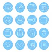 Navigation icon and buttons set.  Vector illustration of different interface web icons — Stockvektor