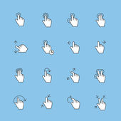 Touch Gestures Icons — Zdjęcie stockowe