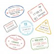 International business travel visa stamps set — Stok fotoğraf #59171611