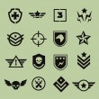 Military symbol icons — Stock Vector #59389943