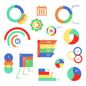 Set of  infographics charts and diagrams for your design. Vector illustration — Stock Vector