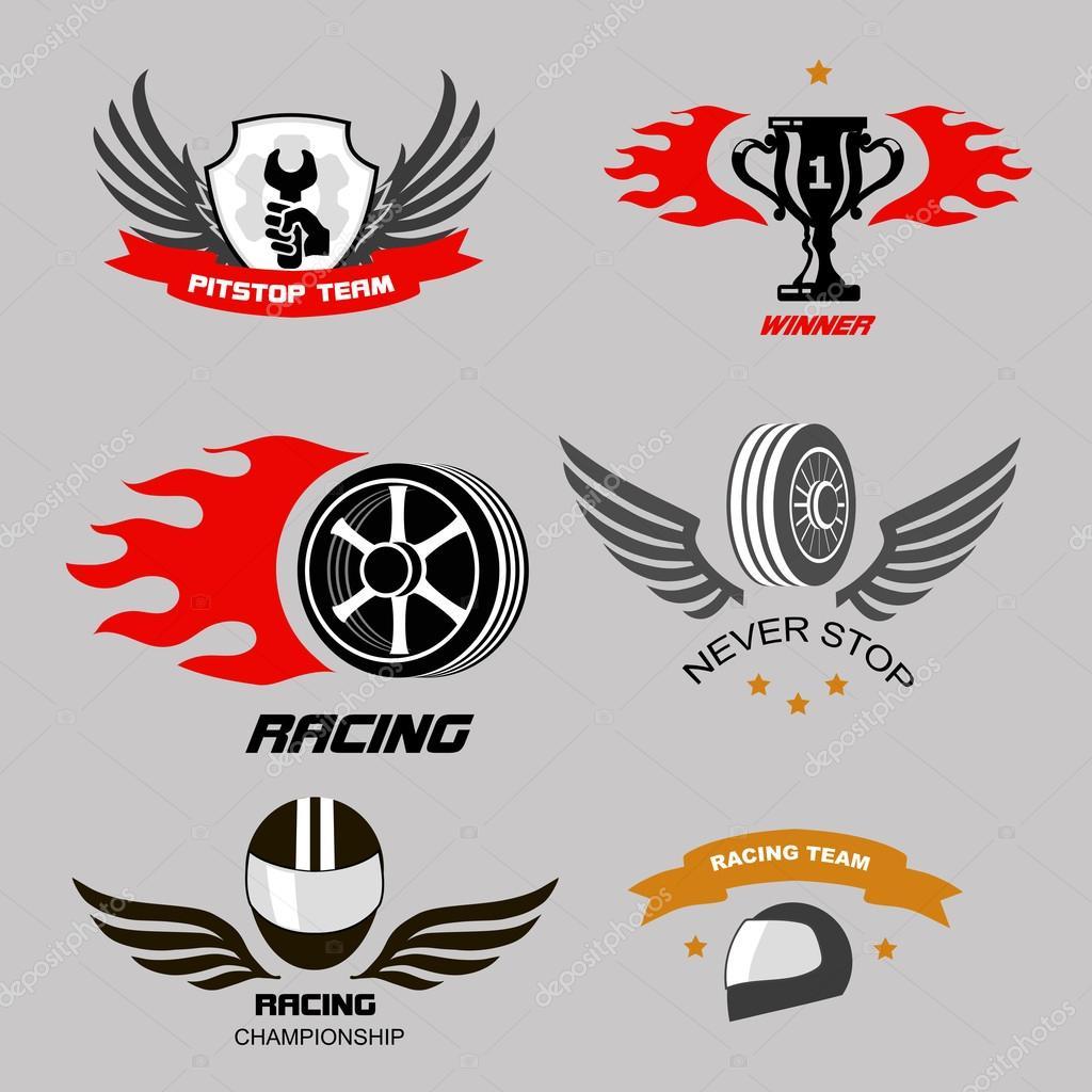 Old Race Car Logos
