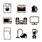 Household Appliances Icons — Stock Vector