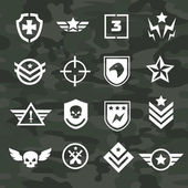 Military symbol icons and logos special forces — Stock Vector