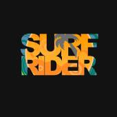 Surfer typography, t-shirt graphics — Stock Photo
