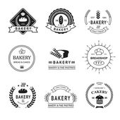 Set of bakery logos, labels, badges and design elements — Stock Vector