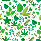 Seamless stylized green leaf pattern background — Zdjęcie stockowe