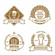Set of monochrome badge, logo and design elements for beer house, bar, pub, brewery, tavern, restaurant — Stock Photo #65811843