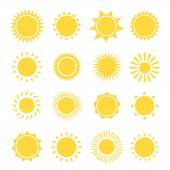 Sun icons collection. Vector illustration — Stock Vector