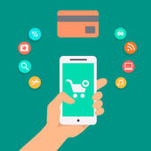 Illustration concepts of online payment methods. — Foto de Stock