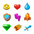 Cartoon icons for game user interface,  set — Stock Photo #67586633