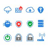 Simplus series icon set. Network connections and mobile devices. — Stock Photo
