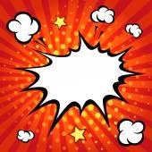 Comic speech bubble, comic backgound — Stock Vector