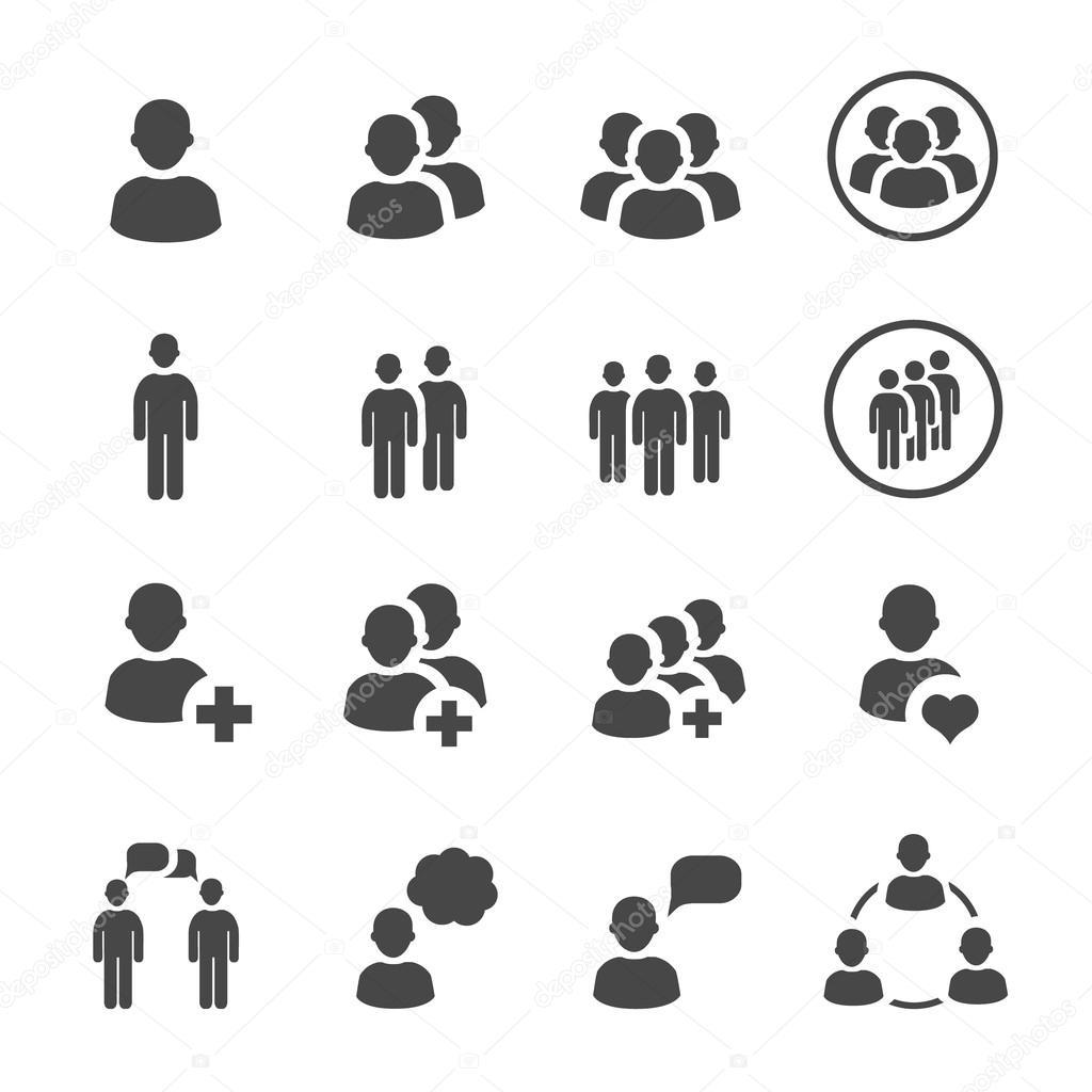 People icon  vector set