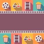 Cinema icons set. Flat style signs   illustration — Stock Photo #70141887