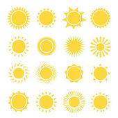 Sun icons collection.  illustration — Stock Photo