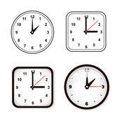 Set of wall clock. Watch and circle — Stock Vector