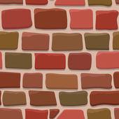 Smidig konsistens av en tecknad tegelvägg — Stockvektor